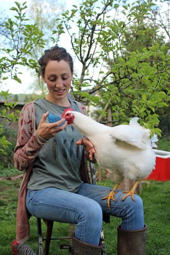 Kontakt zu mir über Telefon 123 Huhn